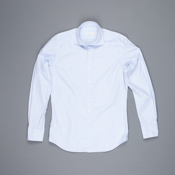 Glanshirt Ween Poplin Blue Hairline