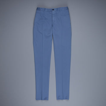 Incotex Venezia Model 84 Cotton-Lyocel Pants Blu Medio