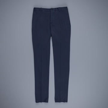 Incotex Venezia Model 84 Cotton-Lyocel Pants Blu Scuro