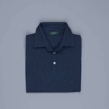 Zanone short sleeve polo ice cotton Blu Copiativo