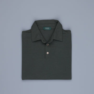 Zanone longsleeve polo ice cotton Verde Zanone