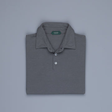 Zanone longsleeve polo ice cotton Piombo
