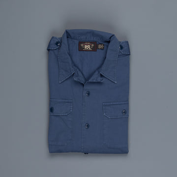 RRL Short Sleeve Shaw Camp shirt Summer Navy