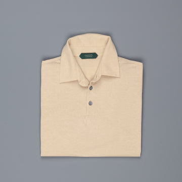 Zanone Polo MC Crepe Cotton Safari