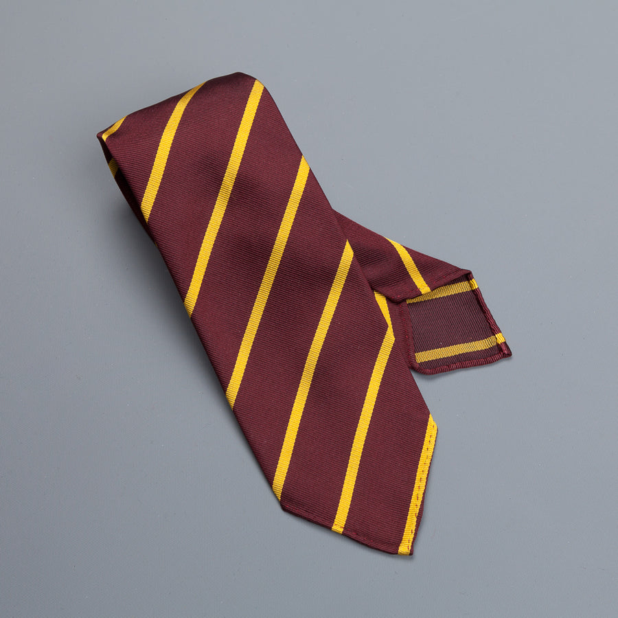 Drakes super repp Regimental tie Northans Country Club