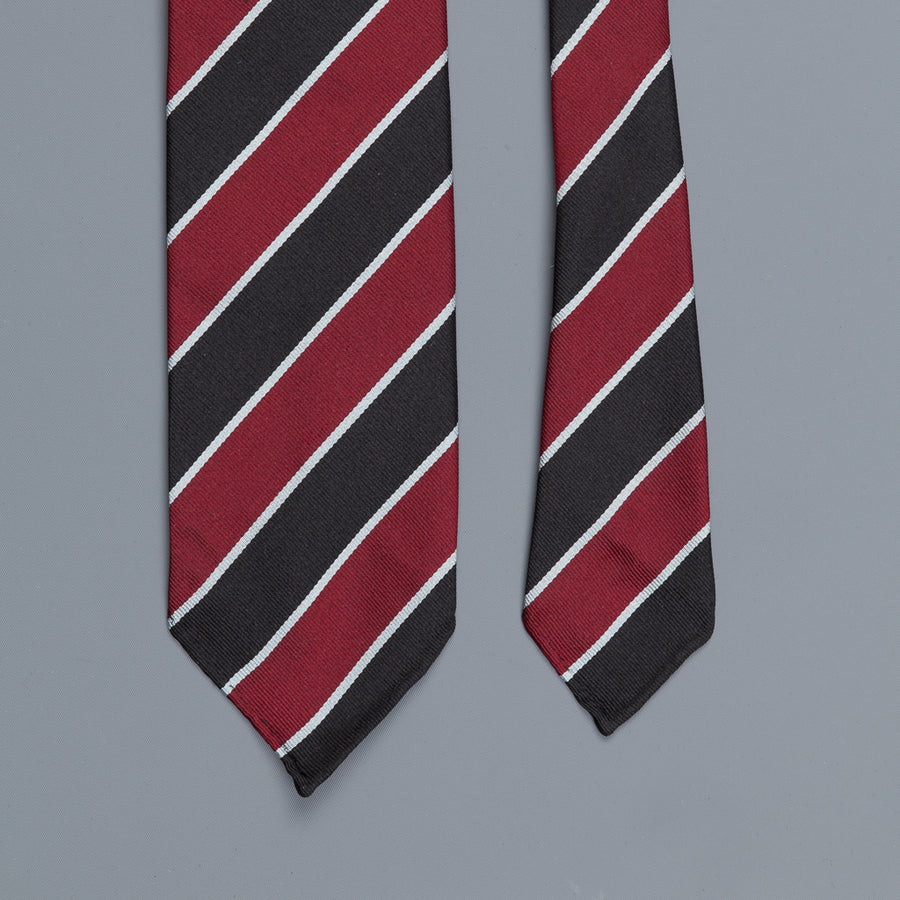 Drakes super repp Regimental tie Eton Vikings