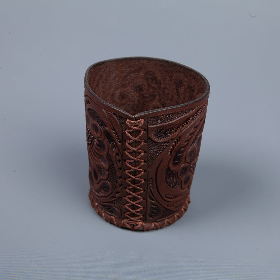 RRL Leather Embossed travel cup