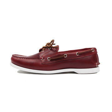Rancourt x frans boone chromexcel red cavalier boat shoe