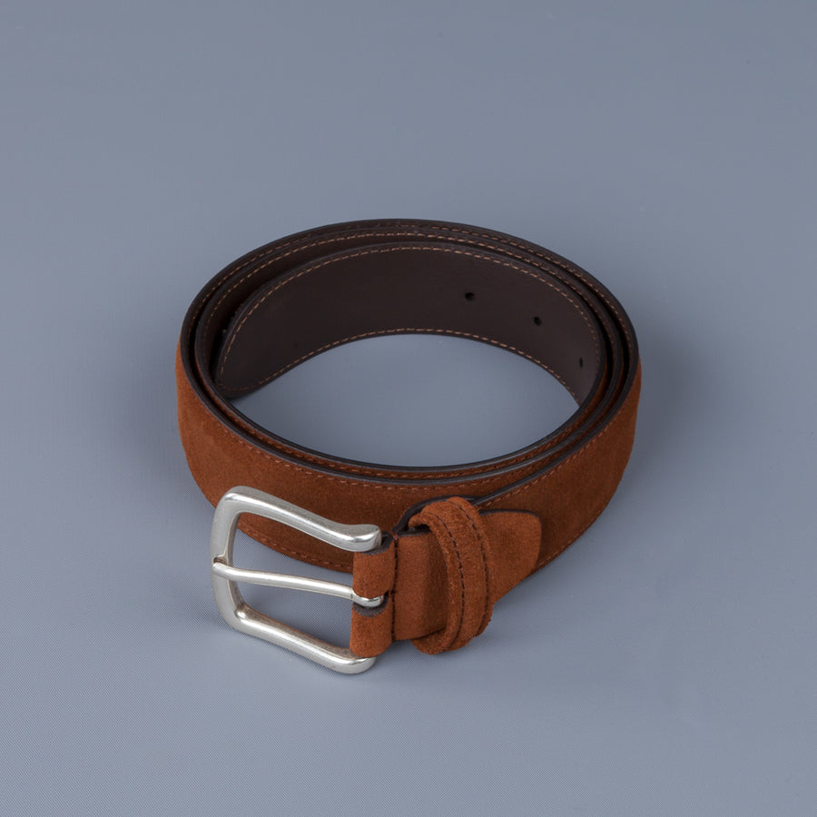 Anderson's x Frans Boone Brown Suede Belt