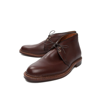 Alden x Frans Boone brown calfskin chukka on leather sole