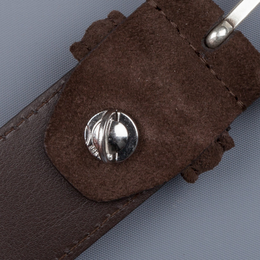 Anderson's x Frans Boone Dark Brown Suede Belt