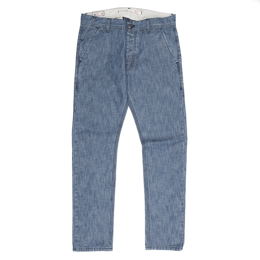 Scartilab x Frans Boone collab pants rinsed chambray