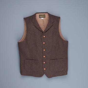 Orgueil  Or-4124 Herringbone donegal tweed Gillet Brown