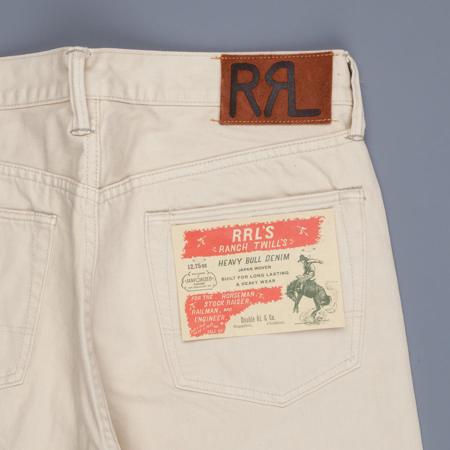 RRL Straight Leg 12.75oz Ranch Twill Heavy Bull Denim Chic Cream