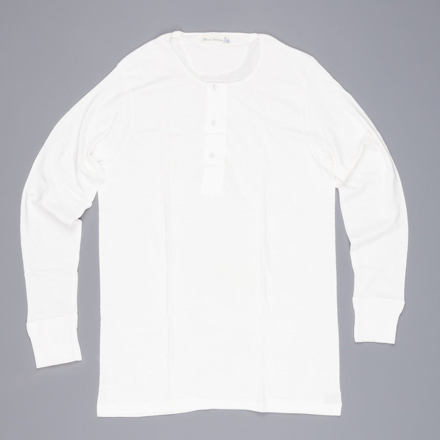 Merz B Schwanen 102 button facing shirt 1/1 white