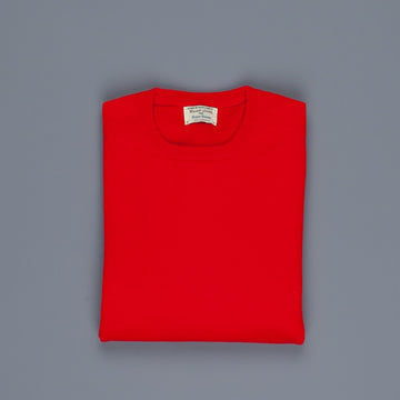 William Lockie Oxton Cashmere Crew Neck Cardinal