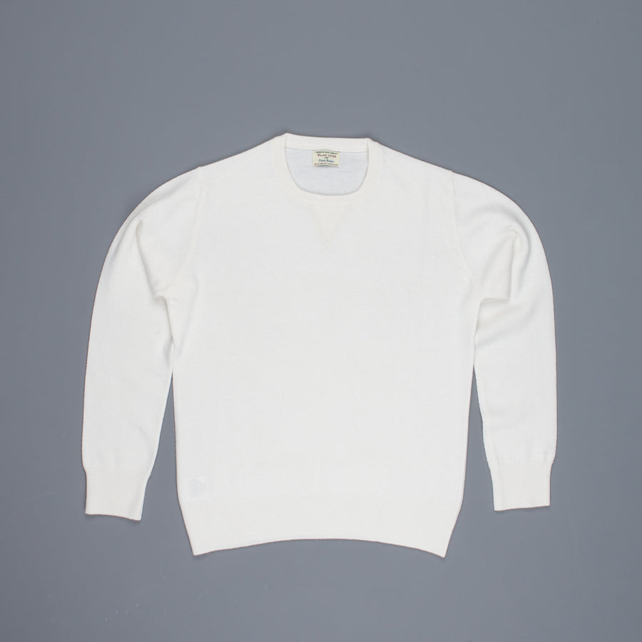 William Lockie x Frans Boone Super Geelong Vintage fit sweater Ice White