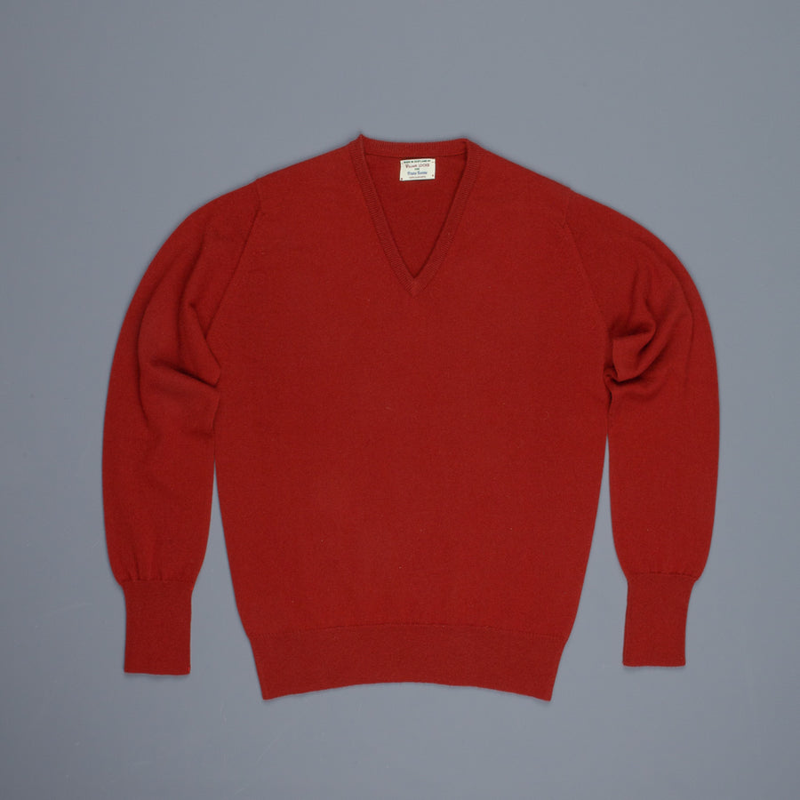 William Lockie Oxton Cashmere V-Neck Harissa