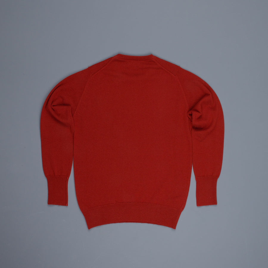 William Lockie Oxton Cashmere Crew Neck Harissa