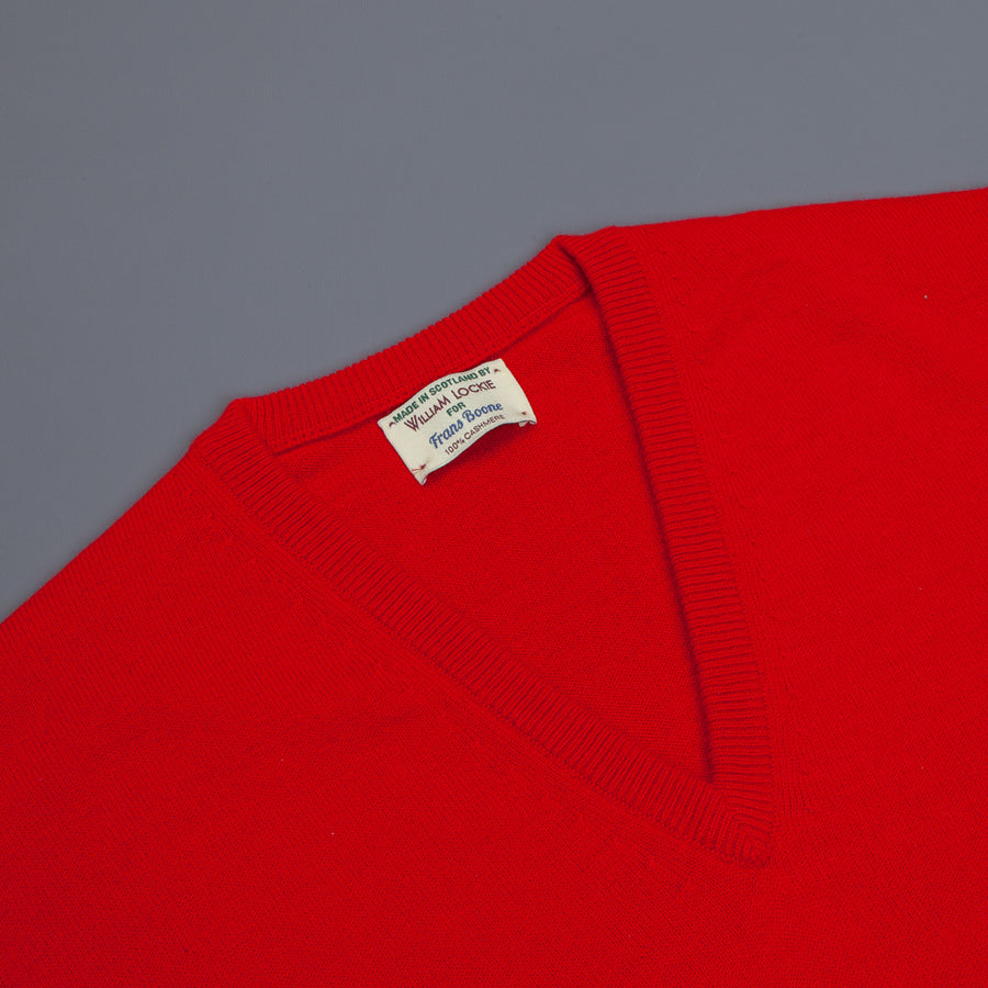 William Lockie Oxton Cashmere V-Neck Cardinal
