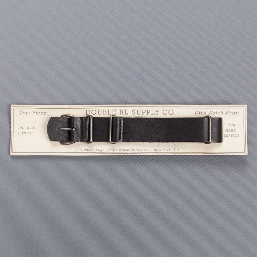RRL Watch strap Black Leather