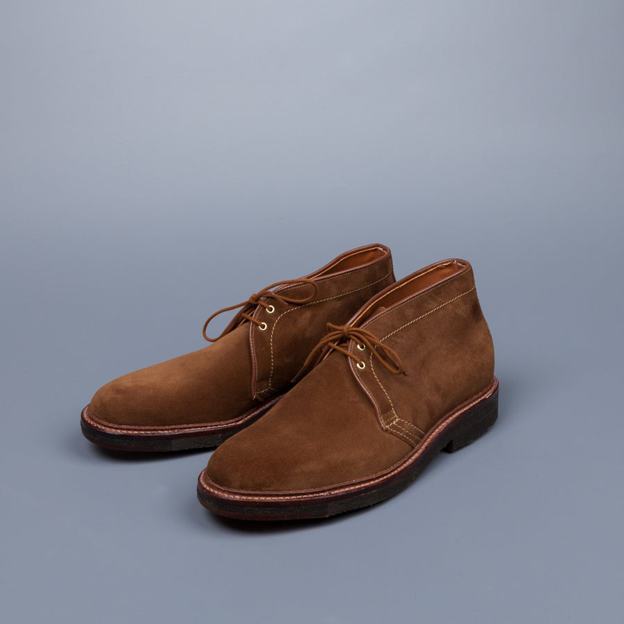 Alden x Frans Boone Chukka Snuff Suede on Crepe Sole