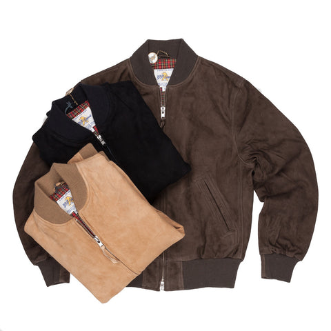 Golden Bear x Frans Boone suede blouson in three colors