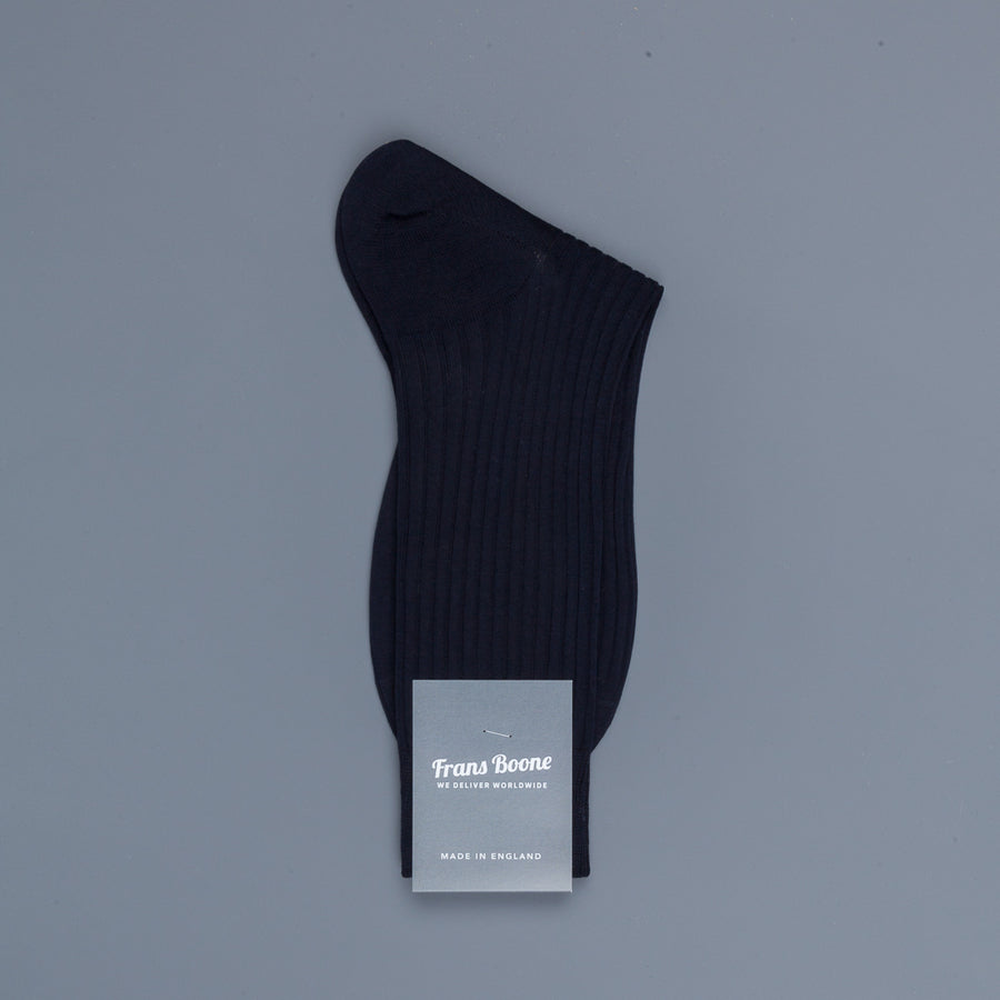 Frans Boone X Pantherella Socks 100% Fil d'Ecosse / Cotton lisle  Navy