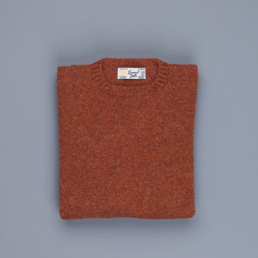 Laurence J. Smith Super Soft Seamless Crew Neck Pullover Sienna