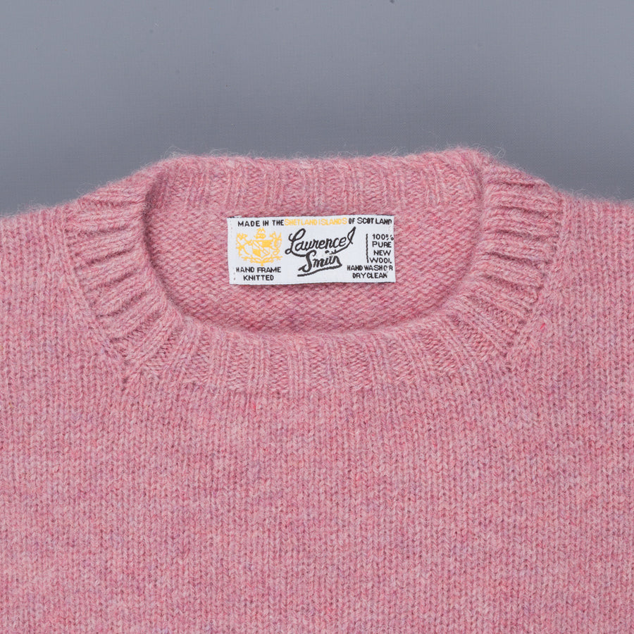 Laurence J. Smith Super Soft Seamless Crew Neck Pullover Heather Orchid