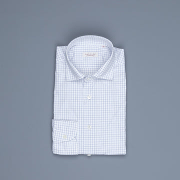 Glanshirt Ween Poplin Blue windowpane check