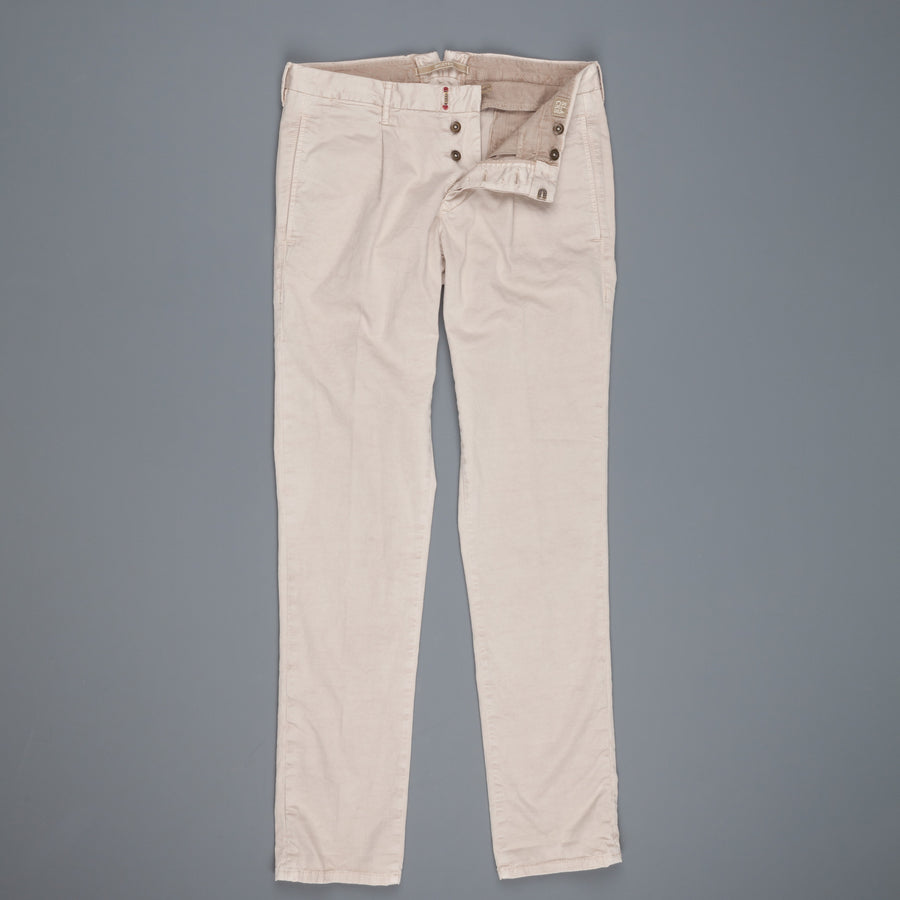 Incotex Slacks model 1st694 pleated stretch chino Beige Chiaro