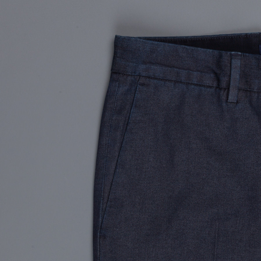 Incotex Venezia model 53 low rise carrot fit Denim rinsed