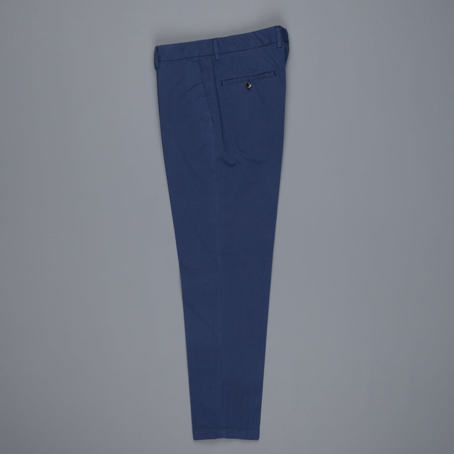 Incotex Venezia model 53 low rise carrot fit Bluette