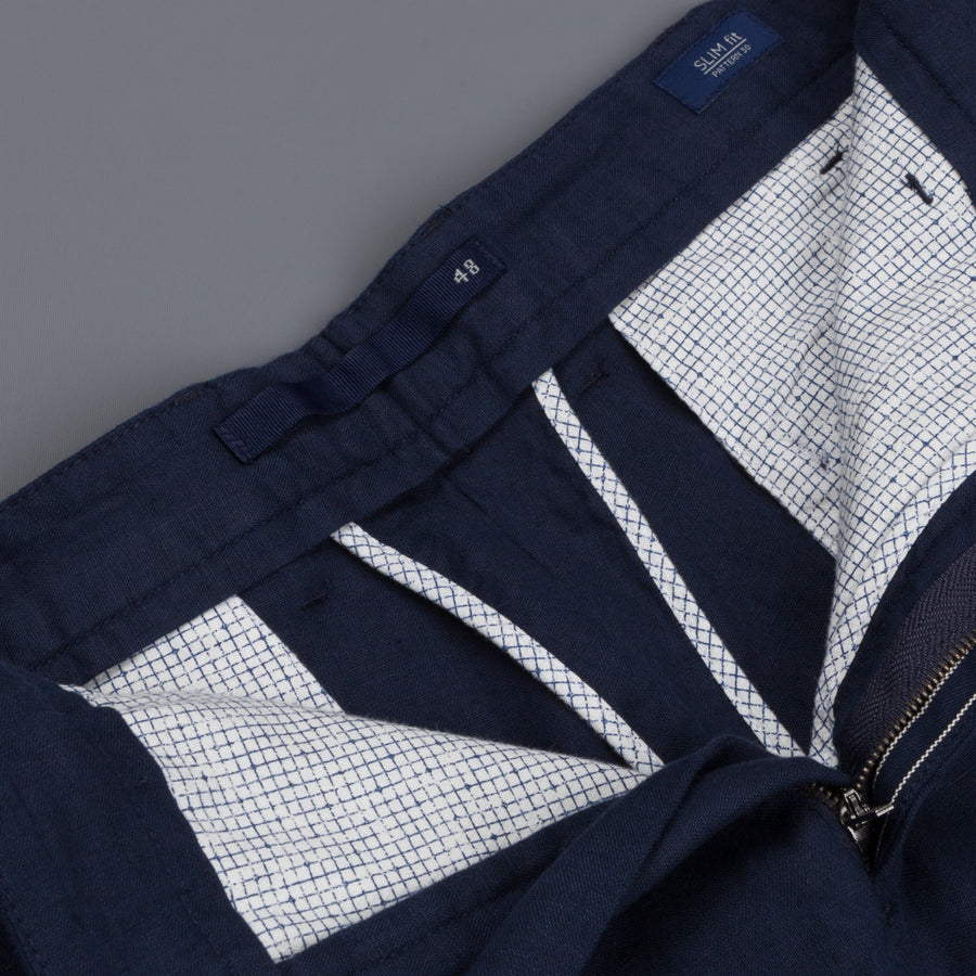 Incotex Model 30 Slim fit Short Navy Frans Boone Exclusive