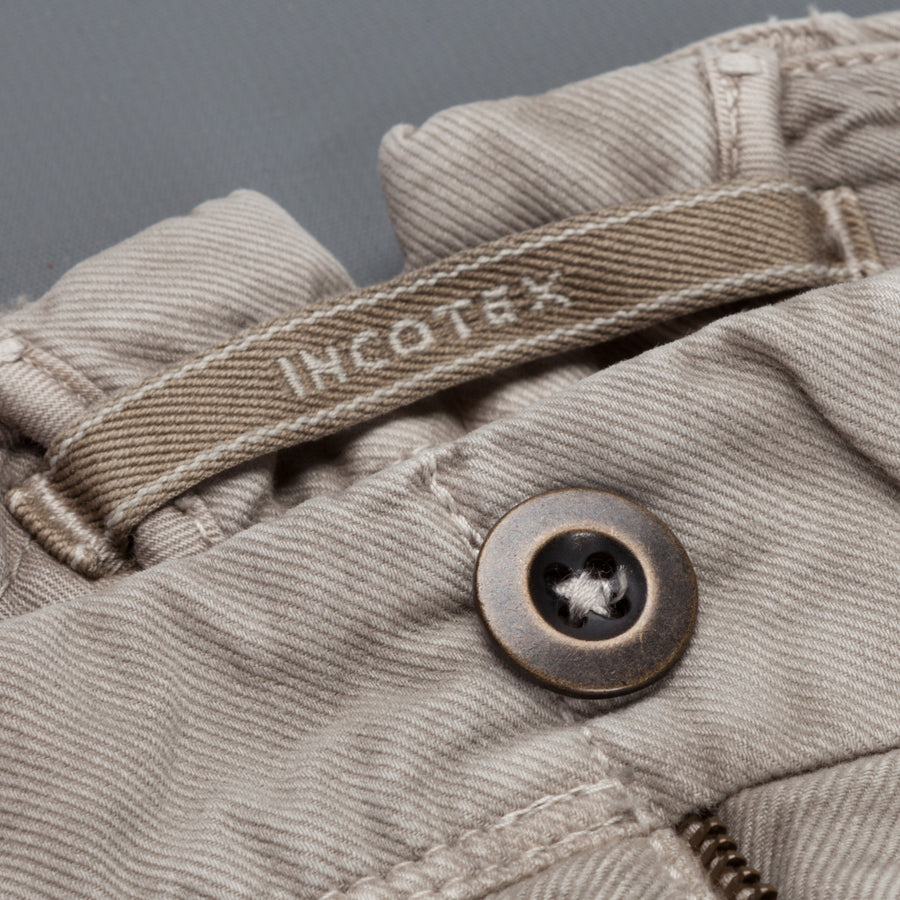 Incotex Slacks tricochino skin fit pants model 619 dark beige