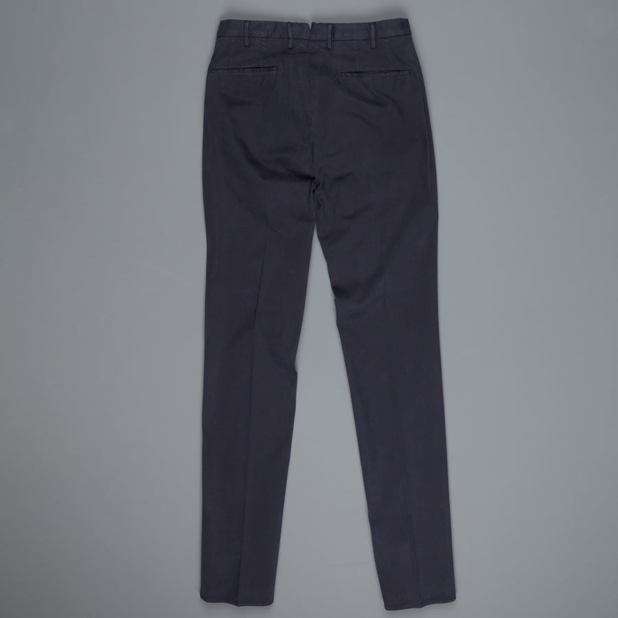 Incotex Venezia model 82 skin fit trico chino pants Blu Scuro