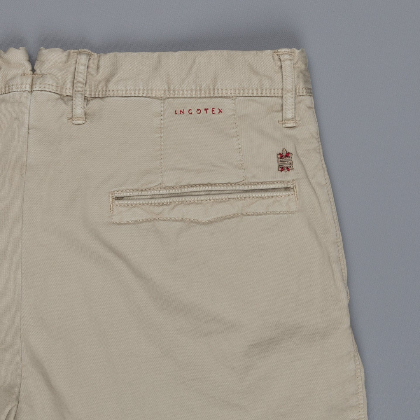 Incotex Slacks 1st603 Stretch Chino Verde Marcio Chiaro
