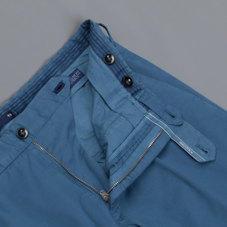 Incotex Venezia Model 16 Tapered Fit Royal Batavia Blu Medio