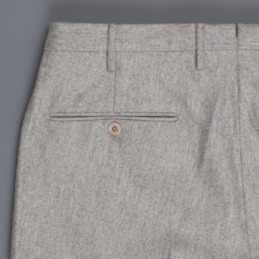 Incotex Venezia Model 16 Tapered Fit Flannel Grigio Chiaro