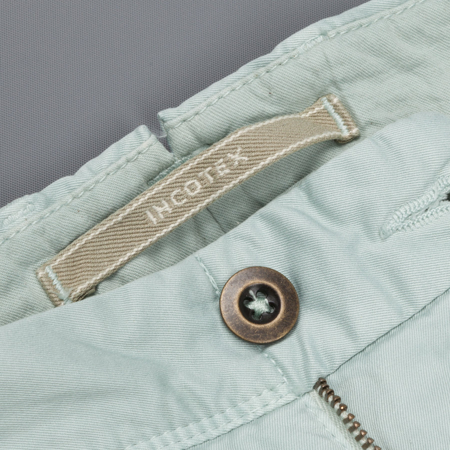 Incotex model 106 regular fit pants azzurro