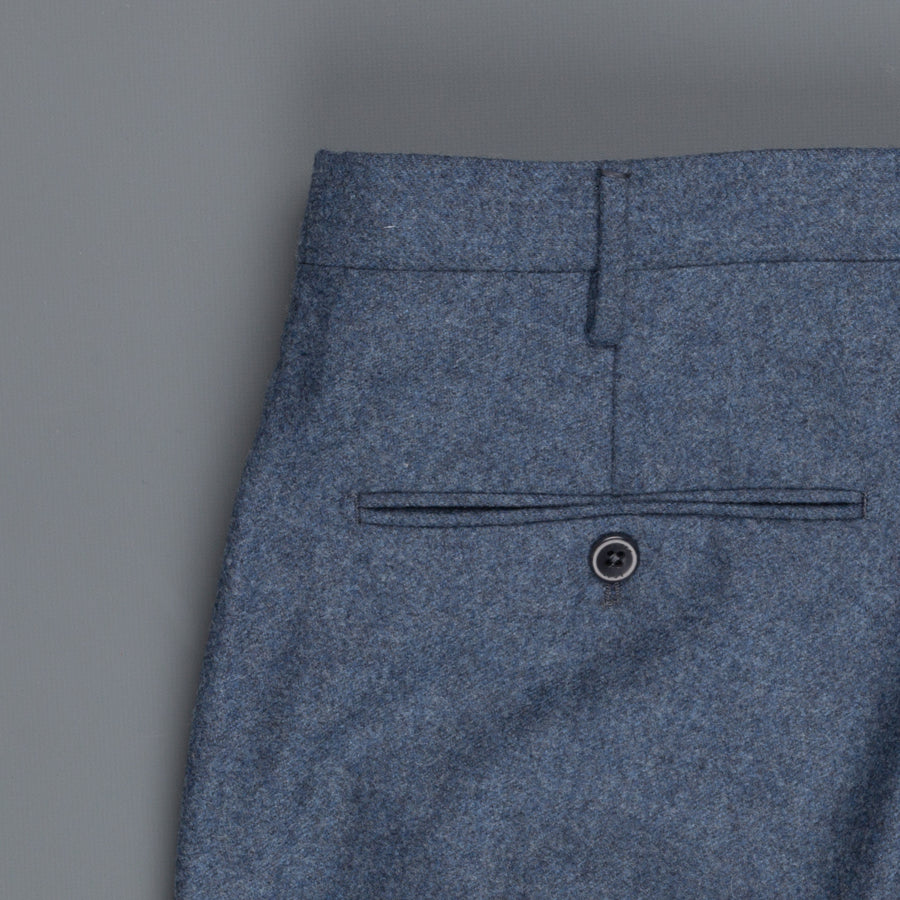 Incotex Venezia model 16 tapered fit flannel pants Blu Chiaro