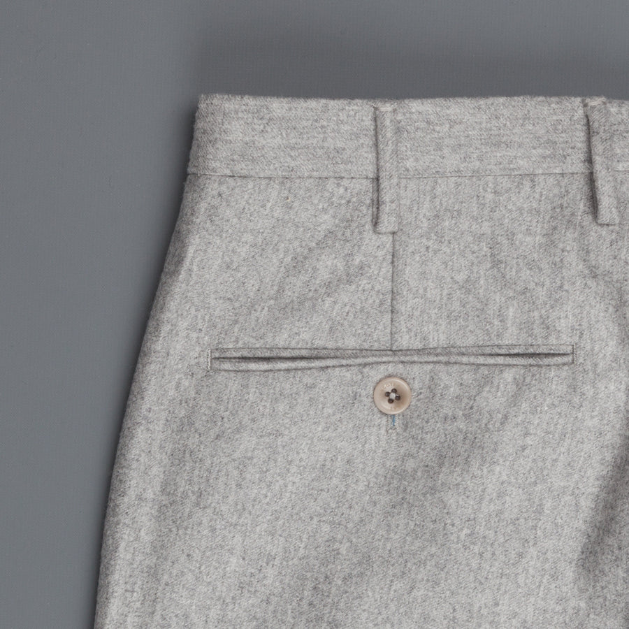 Incotex Venezia model 16 tapered fit flannel pants Grigio Chiaro