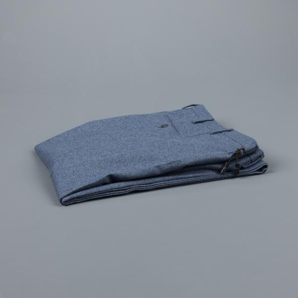 Incotex Venezia Model 16 Tapered Fit Flannel Blu Chiaro/Azzurro