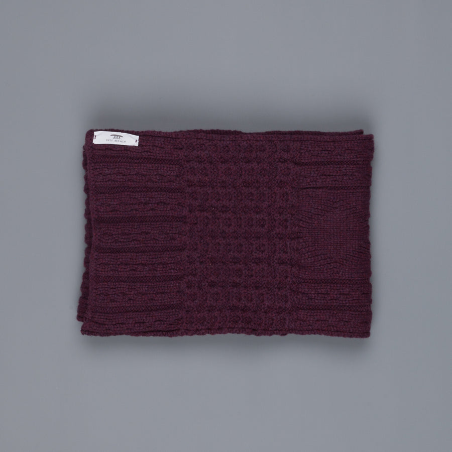 Inis Meáin Cable Scarf Bordeaux
