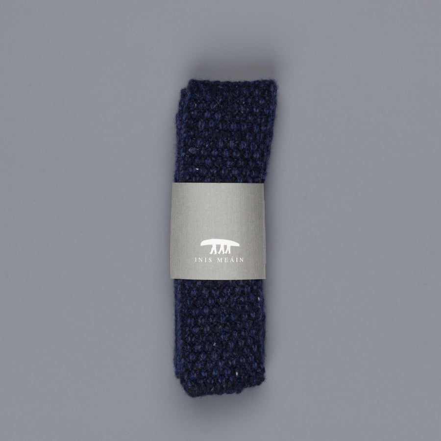 Inis Meáin Moss Stitch tie in wool/cashmere color 147