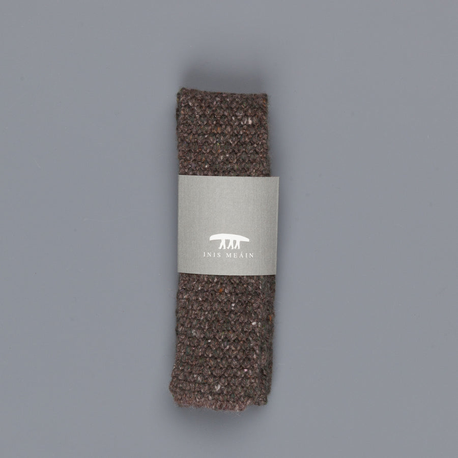 Inis Meáin Moss Stitch tie in wool/cashmere color 152
