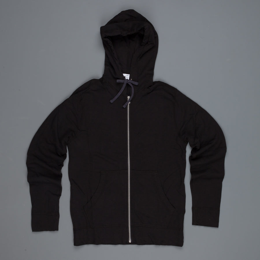 James Perse  Vintage Heathered cotton hoodie black