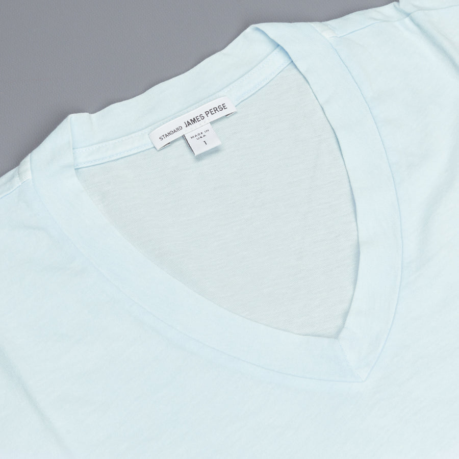 James Perse SS V Neck tee shirt Powder Blue