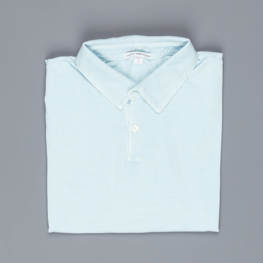 James Perse Revised Standard Polo Powder Blue